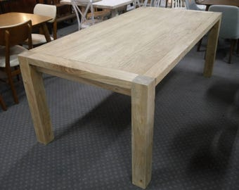 New Provincial Rustic Recycled Timber Elm Reclaimed Wood Wooden Dining Tables Table