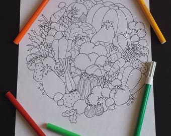 Art therapy vegetables
