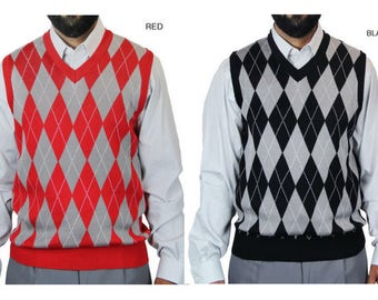 Men's Jacuard Argyle Sweater Vest