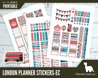 London printable planner stickers | instant download planner | EC planner printables | British weekly planner UK | Union jack sticker pack