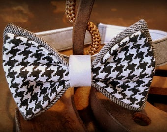 bow tie, bow tie, houndstooth