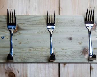 3 x Spoon or 3 x Fork coat hook