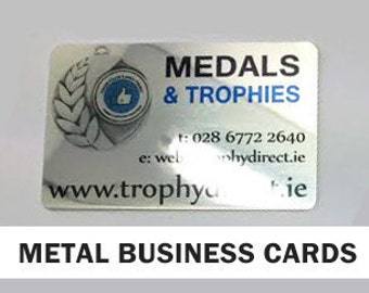 100 x High Gloss Metal Business Cards (0.5mm) Presentation Calling Cards