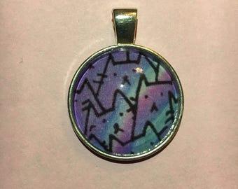 Pastel Goth Kawaii Cat Pendant Necklace