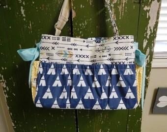 Boutique Handmade Diaper Bag