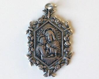 Solid silver Eccea P bread of life St. John Eucharist 1889-1901