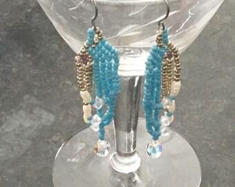 Seed bead earrings.
