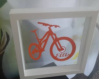 Personalised Papercut Bicycle Wheel Picture