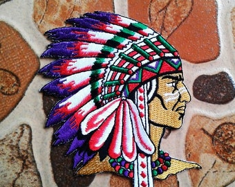 Embroidered Indian Patch.