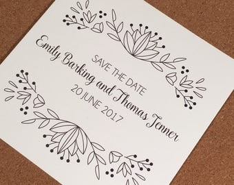 Flora Printed Save the Date