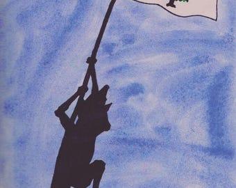 Print: Coyote Raises A Flag