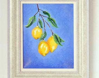 3 Lemons Oil Painting Print (unframed)