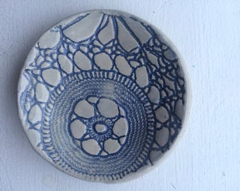 Vintage Lace Jewelry Bowl