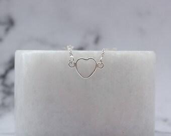 Sterling Silver Heart Cut-Out Bracelet