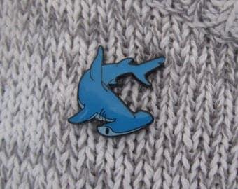 Hammerhead shark soft enamel pin