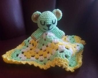 Teddy Bear Lovey Blanket