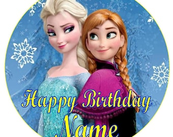 SPECIAL!! Frozen Edible Round Wafer Cake Topper + 30 Mini Cupcake toppers