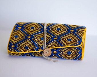 "Jewelry pouch travel ""Bobby"" blue"