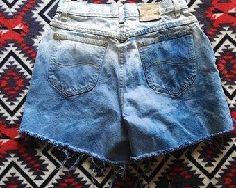 Lee women's bleached ombre denim shorts
