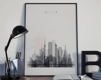Moscow Art Moscow Watercolor Moscow Multicolor Moscow Wall Art Moscow Wall Decor Moscow Home Decor Moscow City Moscow Skyline Moscow Print