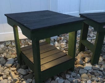 Lighted Driftwood End/Side table