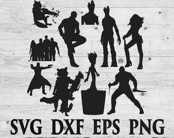 Guardians of galaxy SVG Files Silhouettes DXF Files Cutting files Cricut Silhouette