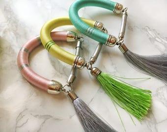 Rope bracele bangle style colorful