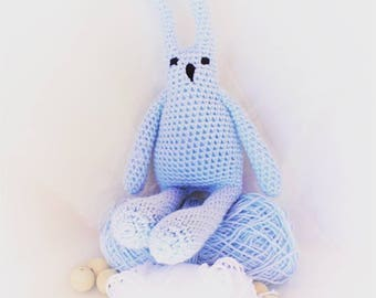Mr. Blue - Bunny (amigurumi) Blue