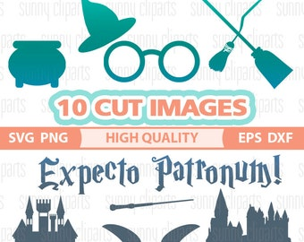 Harry Potter Svg Files, Harry Potter Monogram, Harry Potter Decal, Harry Potter Clipart, Expecto Patronum, Svg Cuts, Silhouette Cameo Files