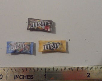 miniature chocolate m&m's (3 for 3 dollars)
