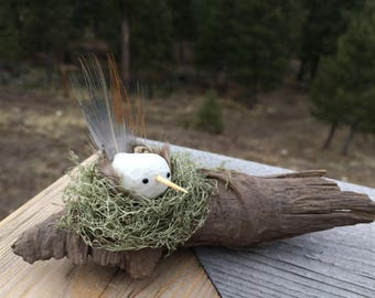This handmade bird makes a perfect gift for any occasion! A unique, one of a kind, and totally adorable addition to any home or office!