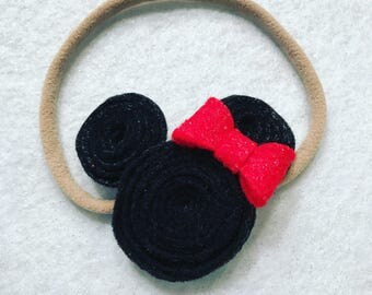 Mickey Mouse Headband, super soft nylon band