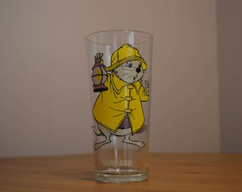 Bernard from The Rescuers series Walt Disney productions Pepsi glass, c 1977