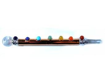 Copper 7 chakra wand
