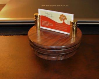 Handturned Walnut Business Card Holder