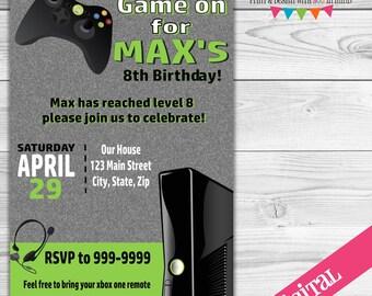 DIGITAL Gamer invitation, xbox invitation