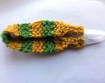 Girls' Knitted Headband in Hobbit Colors