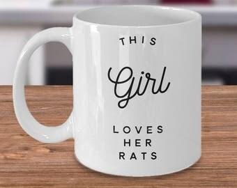 Rat Coffee Mug, Funny Rat Mug, Girls Rat Mug, Rat Lovers Mug, Mug For Rat Owners, Rat gifts Under 20