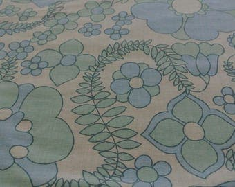 "Retro Vintage Dolly Blue Floral Single Duvet  52"" x 78"""