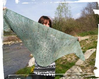 Hand-made linen shawl and nettle yarn