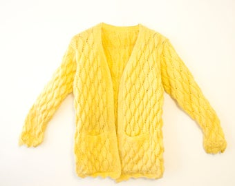 Yellow Knitted Cardigan/Sweater
