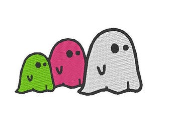 3 ghosts Embroidery file Digital embroidery files Machine embroidery