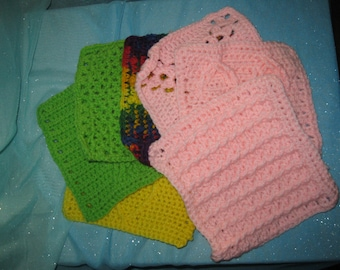 Finished Granny Squares for Blankets or Hot Pads