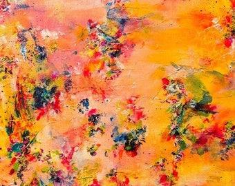 Colorful, bright original wall art RAME