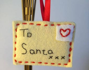 Dear Santa Letter tree Decoration