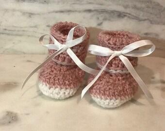 SALE! Crochet baby booties