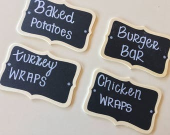 Mini Food Labels Chalkboard Signs Custom Made To Order
