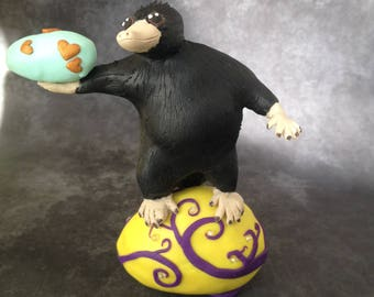 SALE! Niffler easter decoration handmade polymer clay sculpture easter gift - fantastic beasts