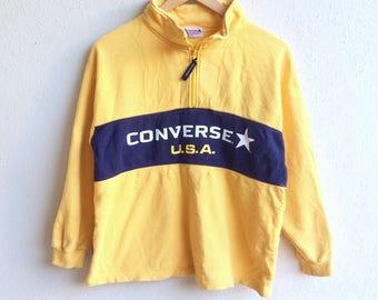 Famous CONVERSE USA big logo sweatshirt yellow colour medium size