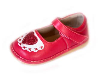 Red Heart Squeaky Shoes